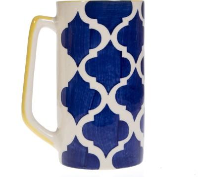 Urban Monk Creations Yellow Blue Straight04 Ceramic Mug