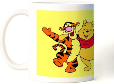 Rockmantra Pooh And Tigger Happy Friendship Day Ceramic Mug