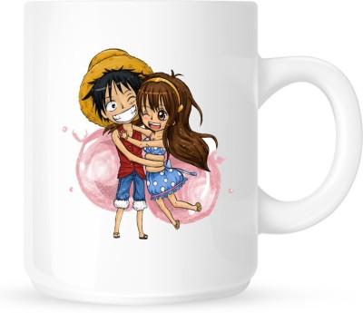 Huppme Hug Day White  Ceramic Mug