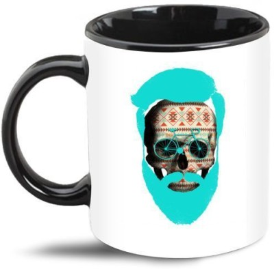 Beard India Cycle Skull Beard Coffee  Ceramic Mug