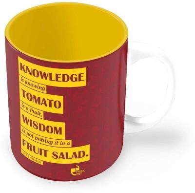 Thinkpot Knowledge V/S Wisdom - Miles Kington Ceramic Mug