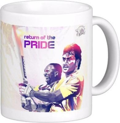 Exoctic Silver Chennai Super King IPL Series XXX 022 Ceramic Mug