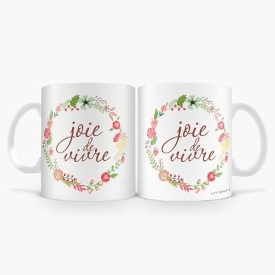 LetterNote joie de vivre Combo Ceramic Mug