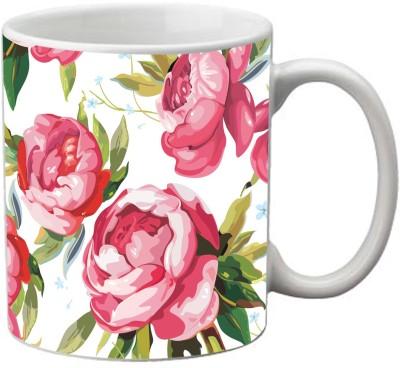 Romanshopping Flowers Pattern  Bone China Mug