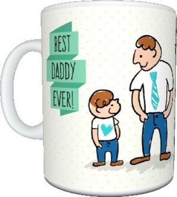 CreativesKart Father,s Day Best DAD Ever Ceramic Mug