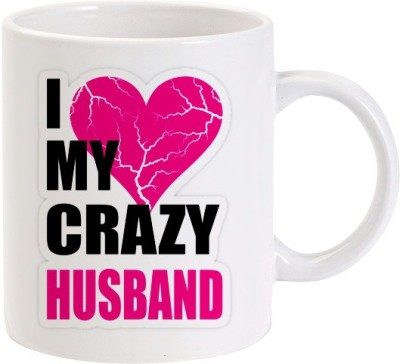 Lolprint I Love my Crazy Husband Ceramic Mug