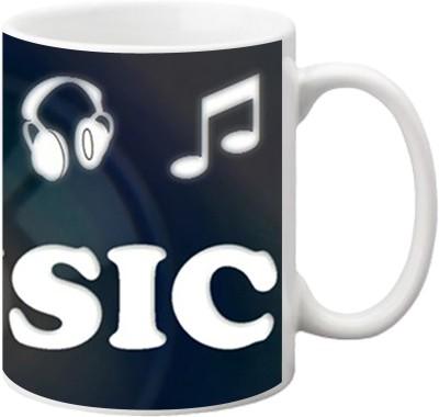 ezyPRNT I Love Music Ceramic Mug