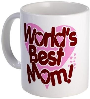Giftsmate Heart Worlds Best Mom Ceramic Mug