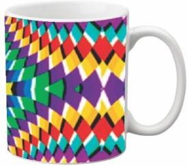 Via Flowers Llp Pattern VMW1759 Ceramic Mug(350 ml)