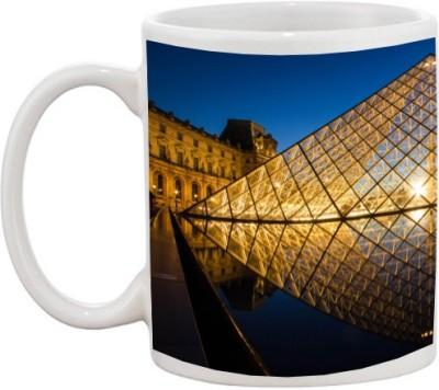 Goonlineshop louvre pyramid Ceramic Mug