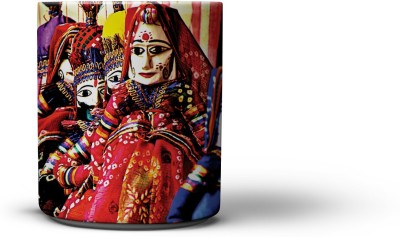 The Nodding Head Kathputli (Puppet) Dance Coffee Ceramic Mug