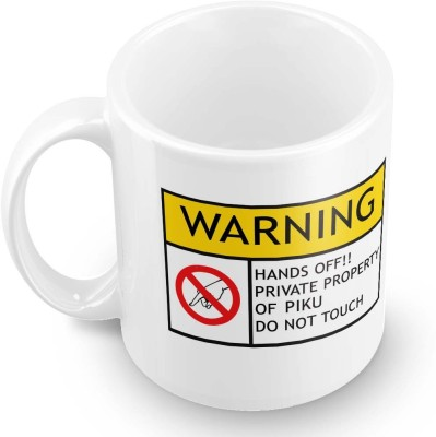 posterchacha Piku Do Not Touch Warning Ceramic Mug