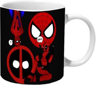 Mooch Wale Spider Man And Deadpool Ceramic Mug