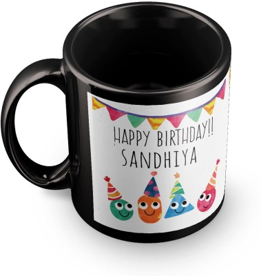 posterchacha Sandhiya Personalised Custom Name Happy Birthday Gift Tea And Coffee  For Gift Use Ceramic Mug