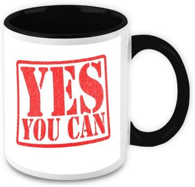 HomeSoGood Yes You Can Quote Ceramic Mug