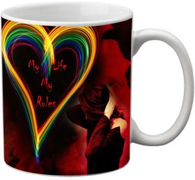 Romanshopping Heart  Bone China Mug