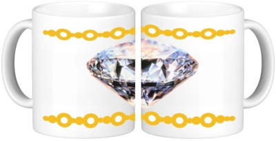 Shopmillions Crystal Diamond Ceramic Mug