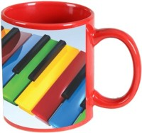 Printland Printland Music Red Coffee 350 - ml Ceramic Mug(350 ml) best price on Flipkart @ Rs. 349