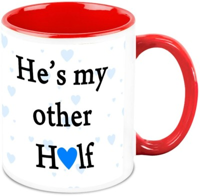 HomeSoGood My Husband Is My Other Half Ceramic Mug