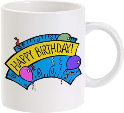 Lolprint 02 Happy Birthday Balloons Ceramic Mug
