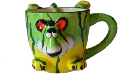 MGPLifestyle Multicolor Animal Face Ceramic  (Leopard) Ceramic Mug