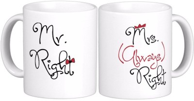 Exoctic Silver Mr N Mrs Right- Marriage Anniversary Ceramic Mug