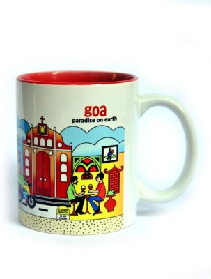 Indiavibes Coffee & Tea Goa Theme Printed Ceramic Ceramic Mug