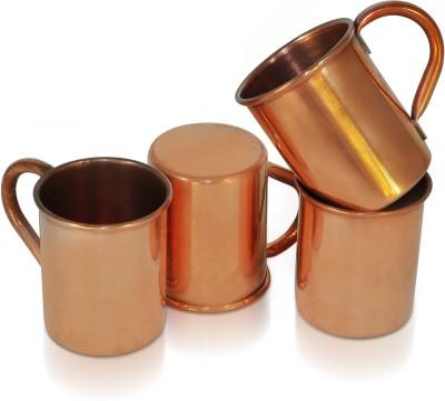 Dungri India Craft Set of 4,100 % copper hammered 70 ML / 2.3 oz SHOT Moscow Mule Vodka  - For Cocktail Copper Mug