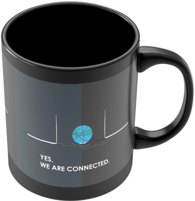 PosterGuy Yes We are Connected Social Message Ceramic Mug