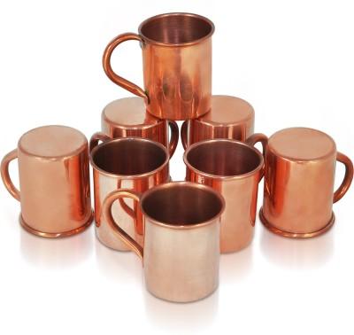 Dungri India Craft Hammered 70 ML / 2.3 oz SHOT Moscow Mule Vodka  Set of 8 - For Cocktail Copper Mug