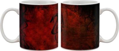 Artifa Red Dragon Porcelain, Ceramic Mug