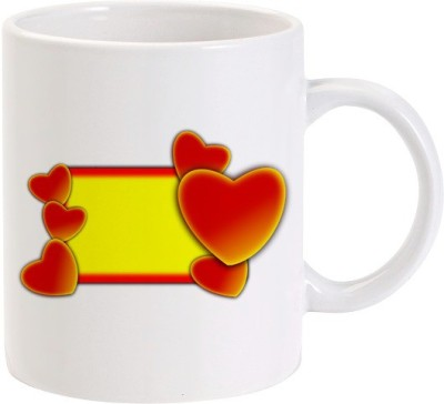 Lolprint Heart Frame Ceramic Mug