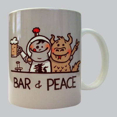Chimp Bar & Peace Porcelain Mug