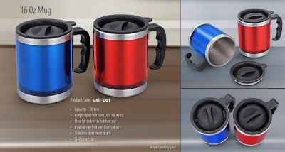 Kraftivity Stainless Steel  (Color As per availability) Stainless Steel, Plastic Mug