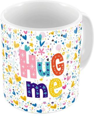 Indiangiftemporium Designer Romantic Print Coffee  Pair 461 Ceramic Mug