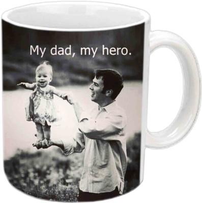 RajLaxmi My dad,My Hero White  Ceramic Mug