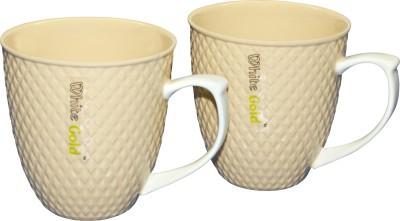 White Gold WG-907 Beige Porcelain Mug