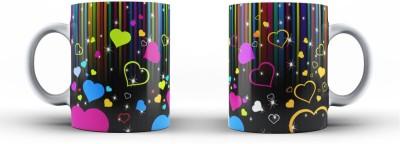 Vibhar Colors&Hearts Ceramic Mug