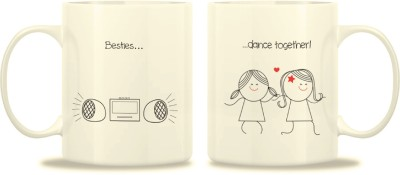 TwoGud Besties Dance Together Bone China Mug