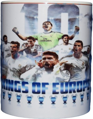 642 Stitches Real Madrid Kings of Europe Porcelain Mug