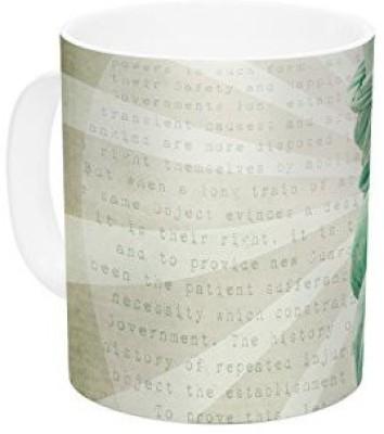 Kess InHouse InHouse Catherine McDonald The Lady Statue of Liberty Ceramic Coffee , 11 oz, Multicolor Ceramic Mug