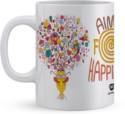 Utpatang Aim For Happiness Ceramic Mug