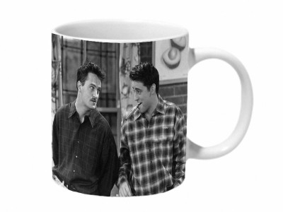 Mooch Wale Joey Cigar And Chandler Mooch Friends Ceramic Mug