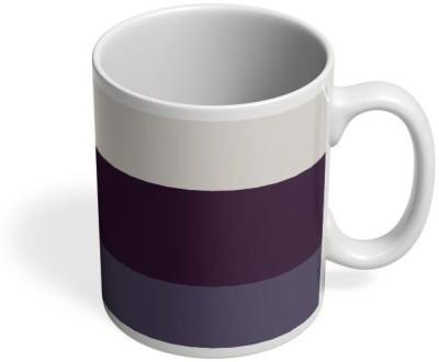 PosterGuy Violet Hued Stripes Art, Color, Colour, Stripes, Multicolour, Iphone, Cases, Shade Ceramic Mug