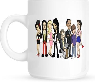 Huppme Celebrity Cartoon White  Ceramic Mug