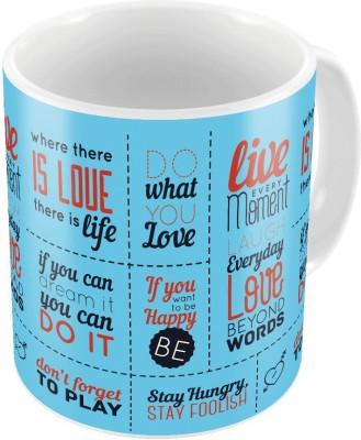 Indiangiftemporium Designer Romantic Printed Coffee  711 Ceramic Mug