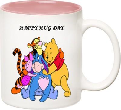 HuppmeGift Happy Hug Day Inner Pink  Ceramic Mug