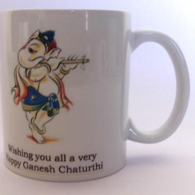 Adak Lord Ganesha Ceramic Mug