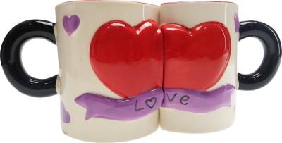 ANNI CREATIONS Flying Hearts Ceramic Mug