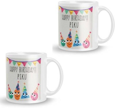 posterchacha Piku Personalised Custom Name Happy Birthday Gift Tea And Coffee  For Gift Use Ceramic Mug